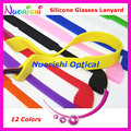 5pcs L605 12 Colors High Quality Elasticity Silicone Anti-Slip Glasses Eyewear Eyeglass Sunglasses Cords Lanyard Free Shipping