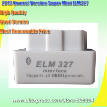DHL EMS Fast Delivery 10pcs OBD II Smallest ELM 327 Bluetooth v1.5 OBD2 Software Support Android image