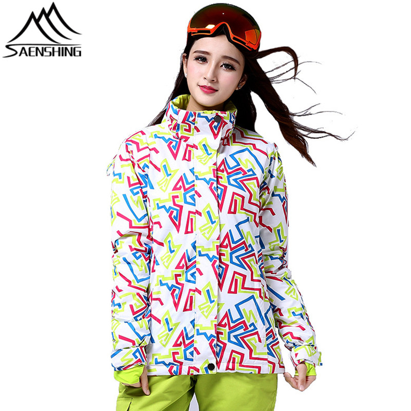 Saenshing Ski Jacket Women Winter Waterproof Snowboard Snow Jacket Women Super Warm Breathable Skiing Snowboarding Jackets Coat dropshipping 2015 rossignol winter snowboarding jacket ski snow jacket women waterproof breathable windproof skiing jackets