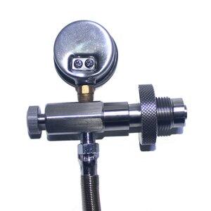 Image 3 - Neue Paintball Air Gun PCP Luftgewehr Edelstahl DIN Füllung Lade Adapter Schlauch HPA Großen Gas Zylinder Zu Kleine zylinder