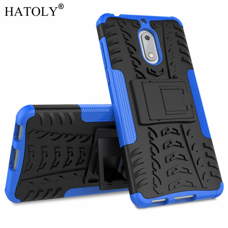 HATOLY For Cover <font><b>Nokia</b></font> <font><b>6</b></font> Case for <font><b>Nokia</b></font> <font><b>6</b></font> <font><b>2017</b></font> Tough Phone Cases Heavy Armor Silicone Hard Cover For <font><b>Nokia</b></font> <font><b>6</b></font> ta-1021 with Holder image