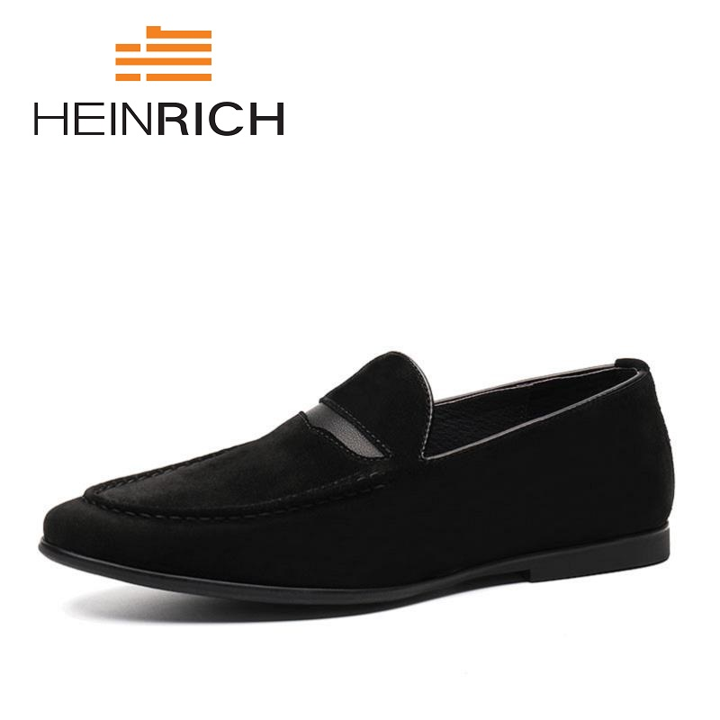 HEINRICH 2018 New Casual Shoes Men Luxury Brand Designer Flats Breathable Mens Social Denim Zapatos De Los Hombres