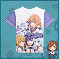 Anime Kantai Collection Kawaii T-shirt Kancolle Akatsuki Hibiki Ikazuchi Inazuma Polyester T Shirt Summer Active Otaku Men Tees