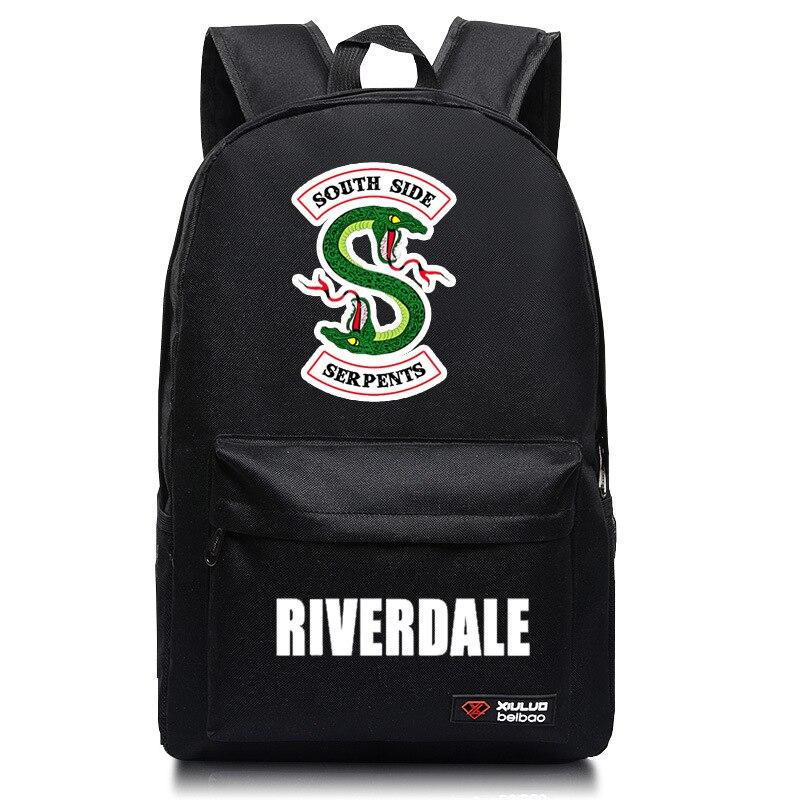 New Riverdale South Side Serpents Backpack Children School Bag Bookbag Men Women Laptop Shoulders Bags Casual Travel Bag
