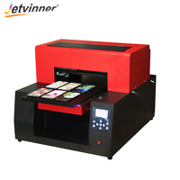 Jetvinner Full Automatic A3 UV Print Machine UV Flatbed Printer Inkjet printers with ink for bottle, Phone Case, metal, leather