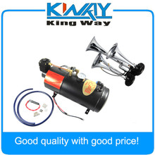 Check Price Train Air Horn & 12 Volt Compressor 3 Trumpet w/ Hose 125 dB Loud 150 PSI Kit