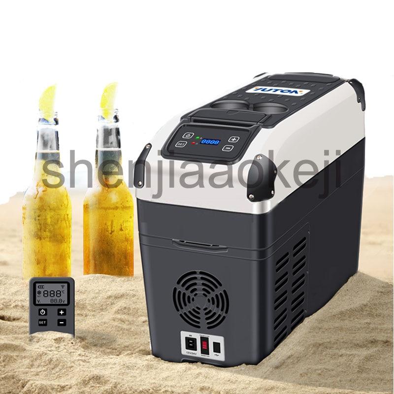 Fridges Freezer 16L Car Compressor Refrigerator 12V Car Dual-use Large Capacity Refrigeration Compressor Refrigerator 220V 1PC