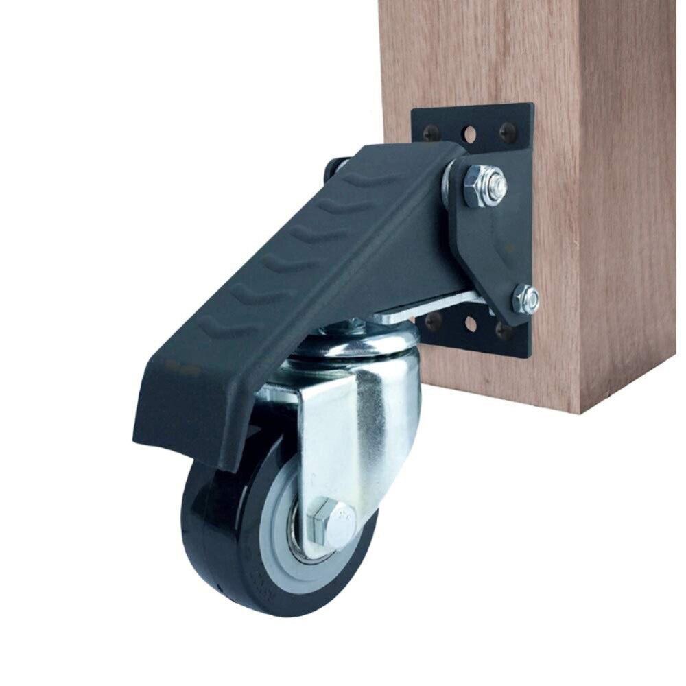 4 ensembles de roulettes de chaise de bureau pivotantes en caoutchouc roulettes de remplacement roulettes de sécurité souples matériel de meubles roulettes d'établi
