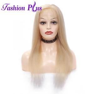 Image 1 - Tam sırma insan saçı Peruk Ön Koparıp 613 sarışın Brezilyalı Remy Saç Peruk kadın peruk Peruk 14 24 Olabilir özelleştirilmiş