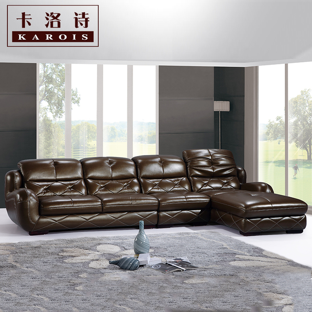 Morden Sofa Leather Corner Livingroom Furniture Whole C38