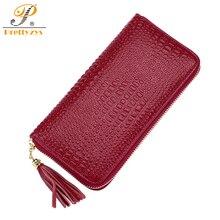 Prettyzys Luxury Brand Designer Genuine Leather Long Women Wallet