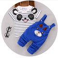 2016 summer baby boys clothing sets cartoon bear kids clothes cotton overalls suits for child costume kids suit shirt+pants 2pcs