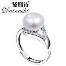 Реальных пробы пресноводный матери перлы природных жемчуг стерлингового модные серебра роскошные