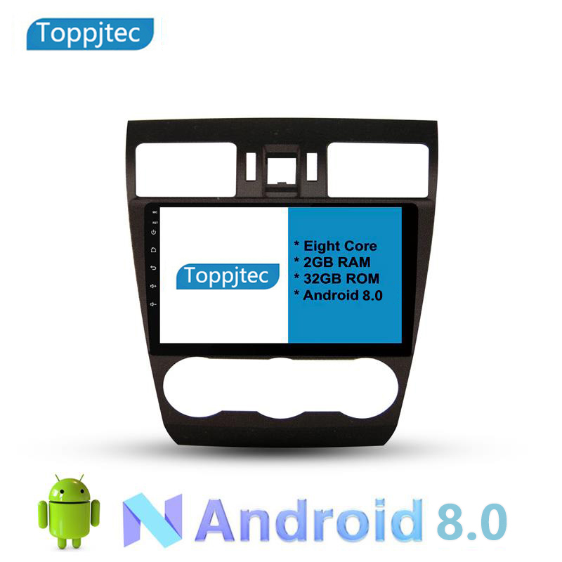 9 Eight Core Android 8.0 4G RAM 1024*600 Car GPS navigation For Subaru Forester 2014 With Stereo Radio android seat