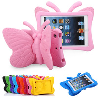 3D Cartoon Butterfly Stand Shockproof Case For Apple IPad Mini 1234 Tablet Cover For IPad Mini