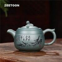 310ml Authentic Yixing Teapot Zhuzun Pot All Handmade Health Care Tea Maker Chinese Purple Clay Tea Set Tea Pot Zisha Home Decor