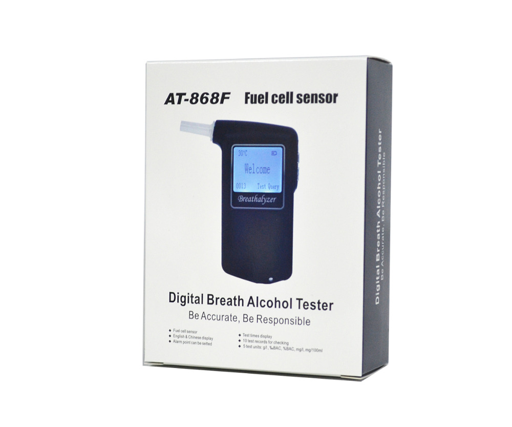 2018 Best Selling Fuel cell sensor breath alcohol tester Certified Breathalyzer Promotional Gift Drive Safety Digital 868F 2017 best selling fuel cell sensor breath alcohol tester certified patent breathalyzer promotional gift drive safety digital