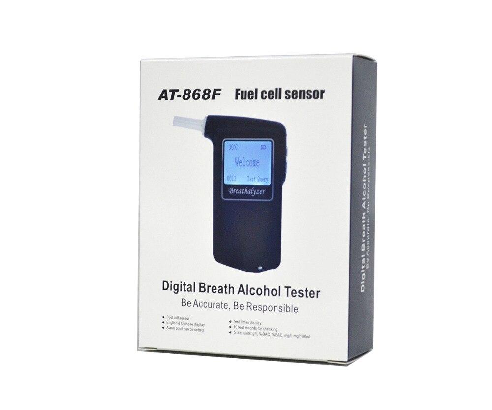 Meilleure vente 2019 capteur de pile à combustible testeur d'alcool respiratoire certifié alcootest cadeau promotionnel sécurité routière numérique 868F
