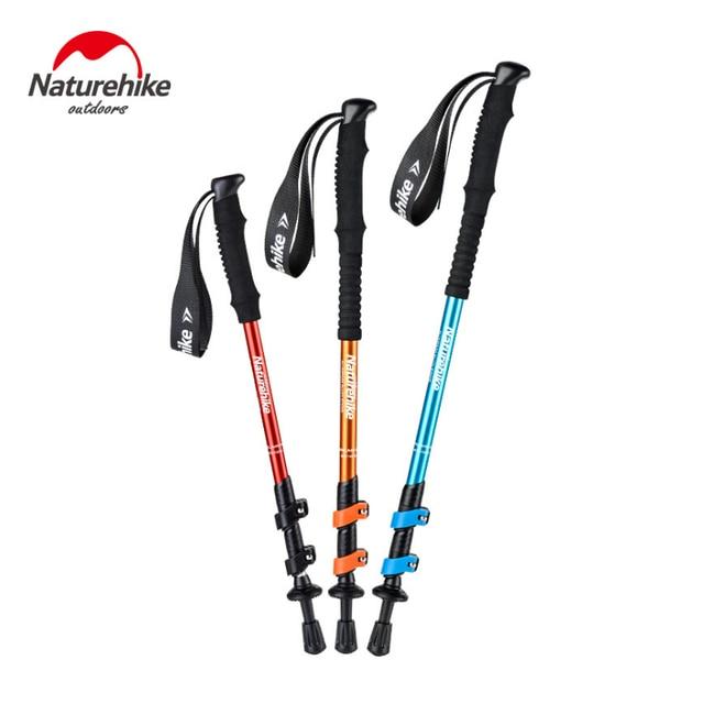 قطعة واحدة NatureHike NH17D001  Z خفيفة الرجال النساء الأطفال قابل للتعديل سبائك الألومنيوم قصب عصي للمشي أقطاب رحلات السفاري