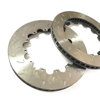 Jekit Brake Disks 355 32mm J Hook Slotted Grooved Drilled Pattern For VW Scirocco 1 4tsi