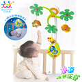 Baby Nursery Cot Mobile with Musical Lullaby Sounds Rattle Baby Toys Rotating Musical Recreation Ground Bed Bell 0-12  Months
