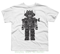 Mans Unique Cotton Short Sleeves O Neck T Shirt Robot Boy S Youth Graphic T Shirt