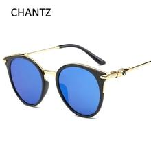 2017 Ronda de Moda gafas de Sol de Diseñador de la Marca Retro Gafas de Sol Polarizadas para Las Mujeres Hombres Espejo Shades Gafas De Sol Mujer Hombre