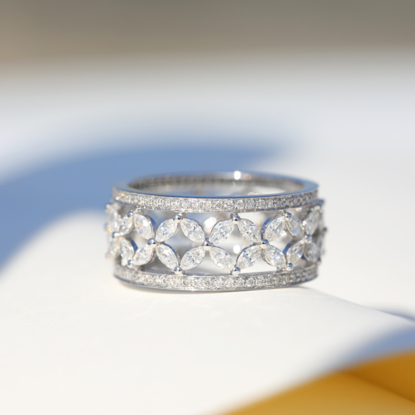 Brand New Choucong Luxury Jewelry 925 Sterling Silver Circle Rings