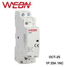 OCT Series AC Household Contactor 230V 50/60Hz 1P 25A 1NC One Normal Close Din Rail Contactor цена