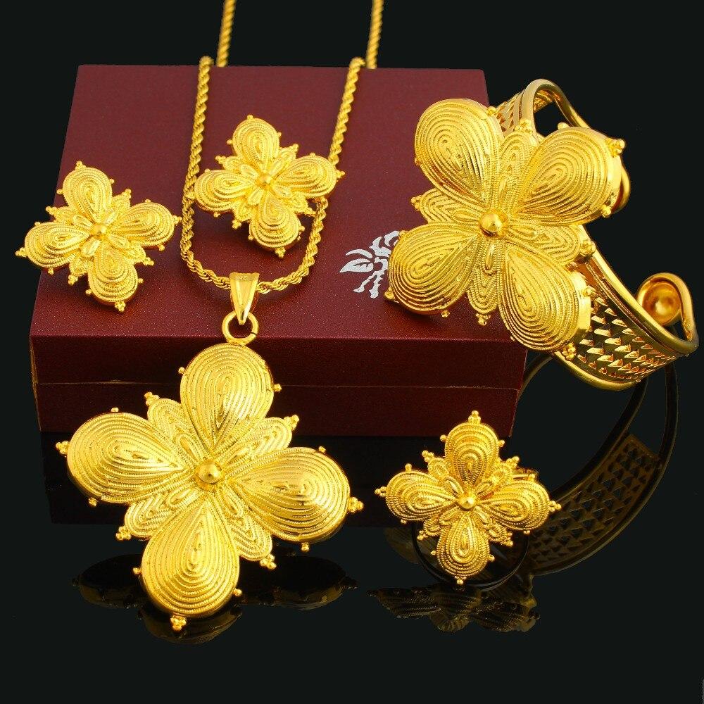 set jewelry gold