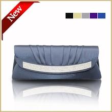 Mode Handgemachte Blaue Hochzeit Tasche Frauen Partei Geldbörsen und Handtaschen Lila Satin Abendtaschen Handtasche Verschiffen Frei