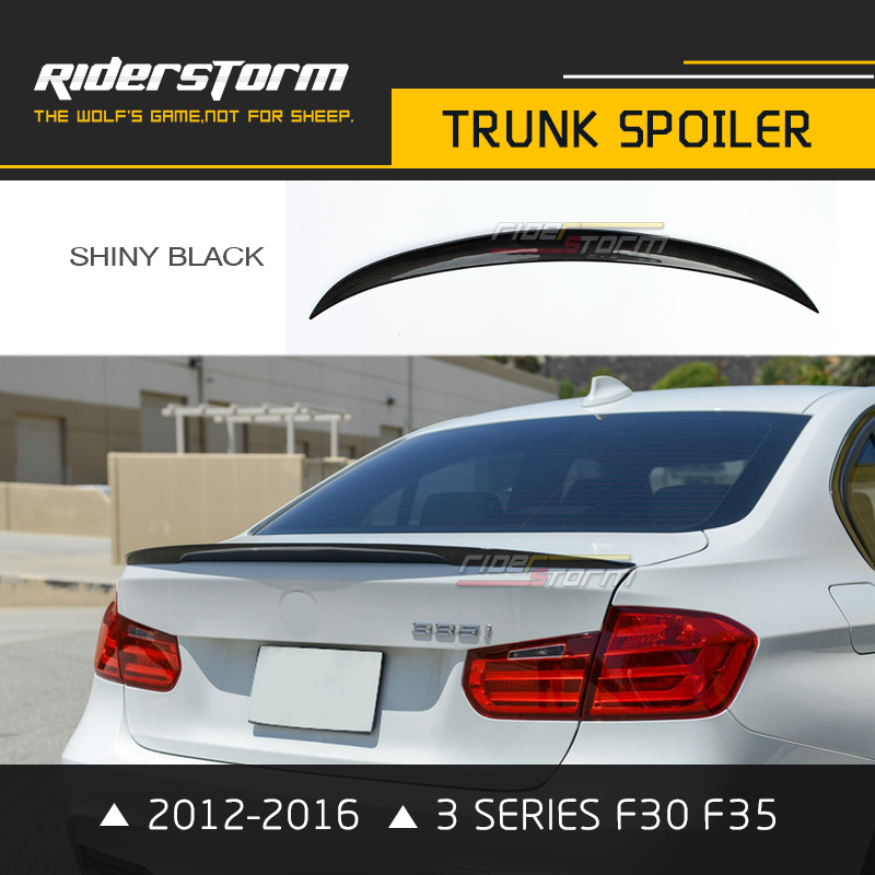 Carbon Fiber F30 Performance Spoiler Trunk Lip Wing for BMW 3 Series 320i 318i 325i 2012-2016 Glossy Black Car Accessories Part for 12 16 bmw 3 series f30 4dr trunk spoiler oem painted match a83 glacier silver