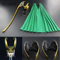 Mnotht 1/6 Scale Loki Helmet +Cloak+Wand suit set toys 1/6 THOR THE DARK WORLD For 12in Action Figure Collection Hobbies Toys