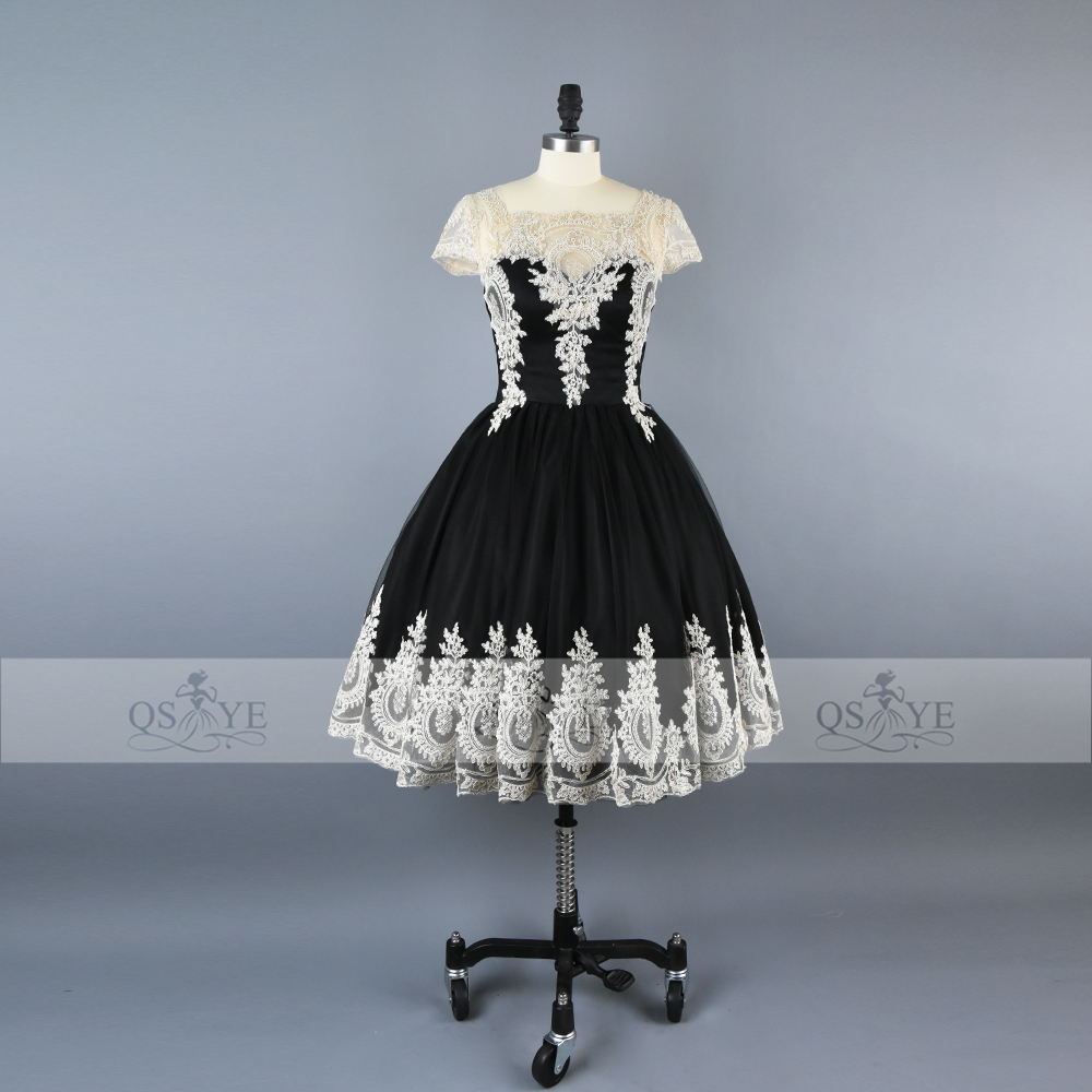 Vintage Black and White Ball Gown Prom Dresses 2017 Robe de Soiree ...