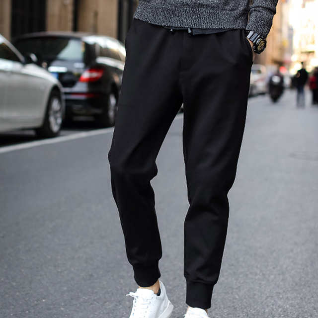 New Winter Men's Casual Pants Middle Waist Joggers sweatpants harem pants cargo pants with pockets brand clothing for male XXL
