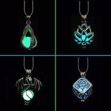 DIY Cage Glow In The Dark Moon Necklace Locket Pendant Glow Necklace For Men Women Party Novel Hallowen Gifts Essential Oil(China)