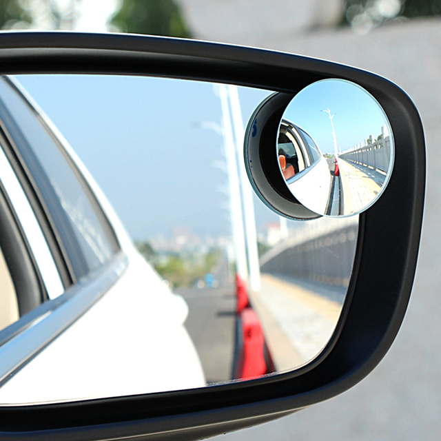 1pair Wide Angle Side Round Convex Mirror Rearview Mirror