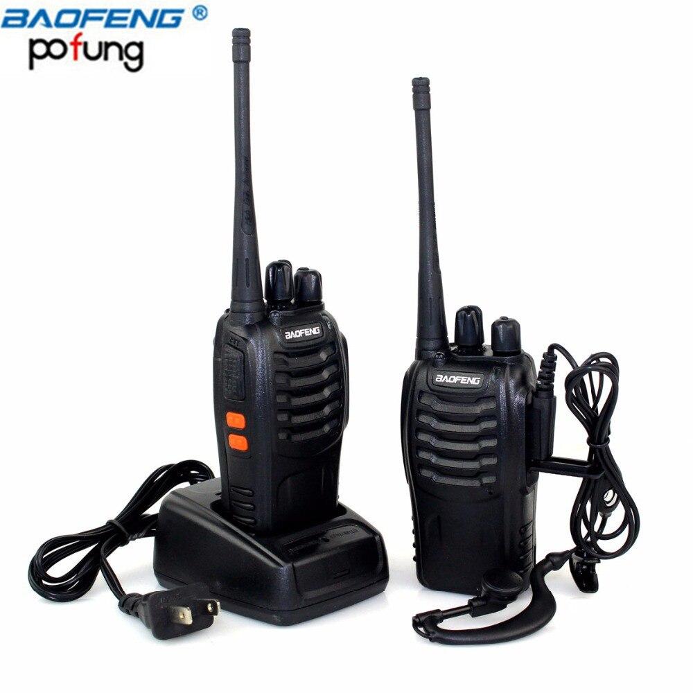 2 Stücke Baofeng BF-888S Mini Walkie Talkie Tragbare CB radio BF888s 16CH UHF Comunicador Sender Transceiver + Headset