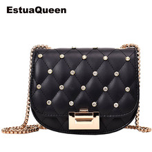 Luxury Brand Handbag 2019 Fashion High Quality PU Leather Designer bag Lock Rivet Chain Shoulder Messenger bags Crossbody bags