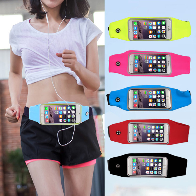 1PC Useful Sport Accessories Gym Waterproof  Waist Bag Belt Pouch Mobile Phone Case For IPhone 6 6s 7 8Plus 5 5s 5c SE Cover 9