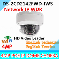 New Arrival Hikvision 4MP IR Network Camera DS 2CD2142FWD IWS Dome IP Camera