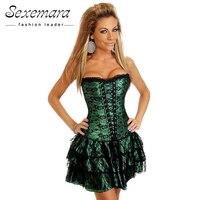 161513cda Burvogue Sexy Underbust Corset Bustier Lace Evening Women Casual Dress Plus  Size Push Up Gothic Corset