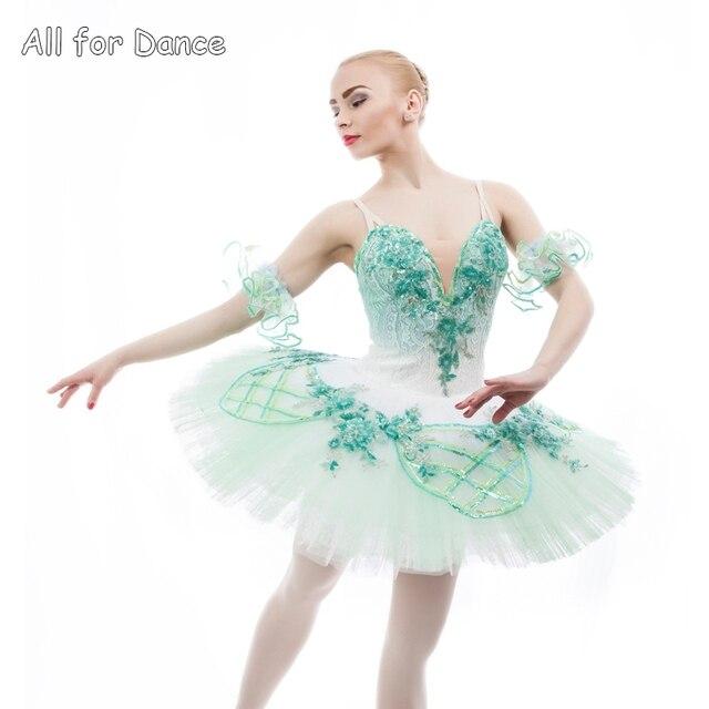 f91d2fd02a Top Quality Women &Girl Professional Ballet Tutu Light Green Ballerina Dance  Costume Tutu Little Fairy Dance Wear