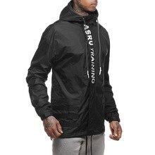 2019 New Spring Autumn Mens Fashion Outerwear Windbreaker Coat Men Sportwear Jackets Hooded Casual Letter Print Men Jacket Coat недорого