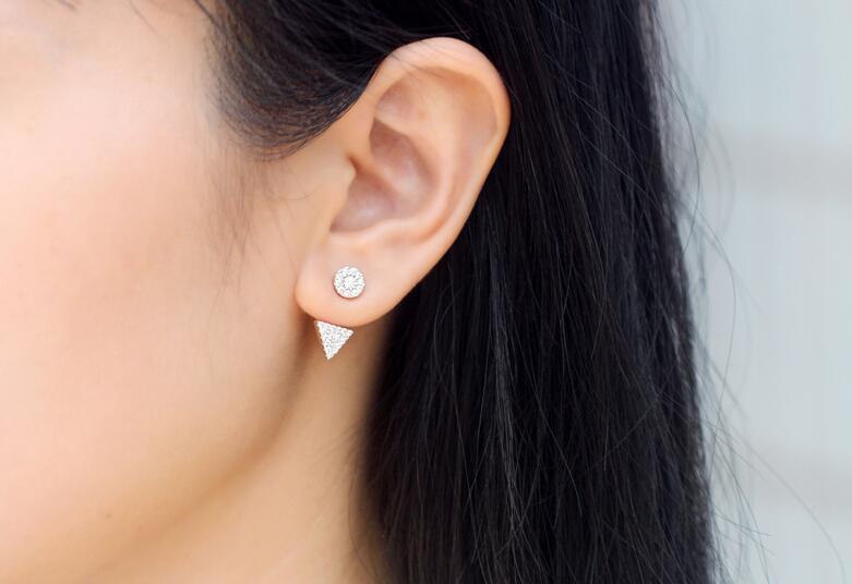 925 ασημένια σκουλαρίκια Λευκό CZ - Κοσμήματα - Φωτογραφία 2