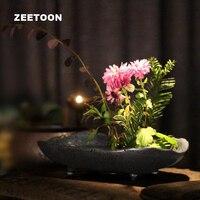 Japanese Zen Style Floral Vintage Elegant Vase Ikebana Creative Home Decor Tabletop Hydroponic Bonsai Flower Pot