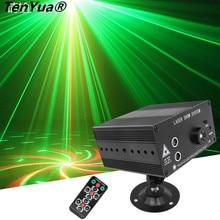 Full Color 48 Padrões de LED RGB Rotating Stage Iluminação Laser Projector RED Green Blue LED DJ KTV Disco Laser de Luz Mostram o Sistema
