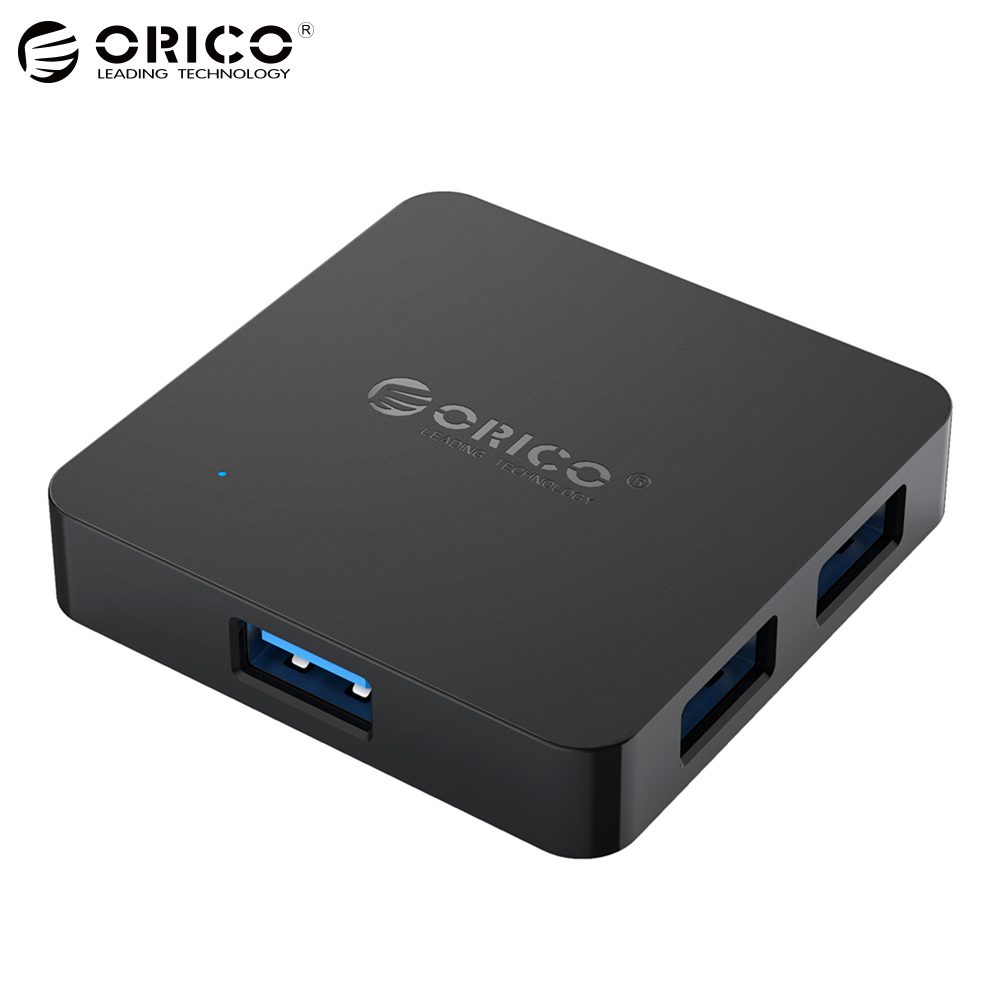 ORICO Super Speed 4 Port USB HUB 3.0 Portable OTG HUB USB Splitter with Micro B Power Port for Apple Macbook Laptop PC Tablet high speed usb 2 0 4 port hub w usb otg adaper for smart phone notebook laptop pda black