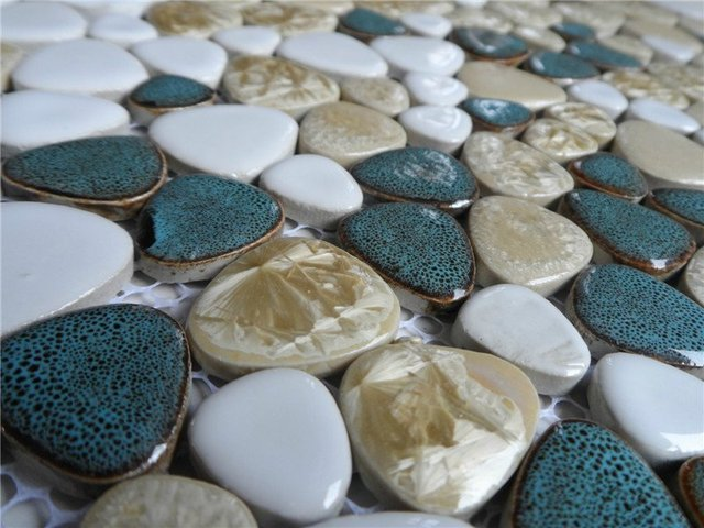 New Style Pebble Mosaic Tile Ceramic Kitchen Backsplash Wallpaper Bathroom Swimming Pool Wall Tiles Shower Distributor