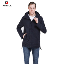 2019 New Spring Men Jacket Autumn Thin Padded Trench Coat Casual Parka Uomo Detachable Hood Outwear Russian